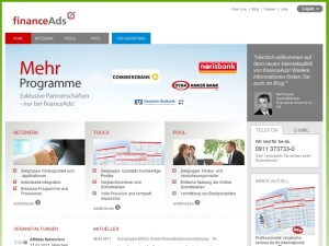 Bild: Screenshot financeAds-Plattform